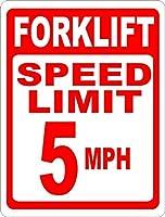 165グレートティンサインフォークリフト速度制限5MPHサイン倉庫安全サイン屋外および屋内サイン壁の装飾12x8インチ