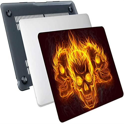 Accesorios para Laptop Pro Flaming Three Human Skulls Pintura Digital Plástico Hard Shell Compatible Mac Air 13'Pro 13' / 16'Accesorios para Macbook Pro 2017 Cubierta Protectora para Macbook Versió