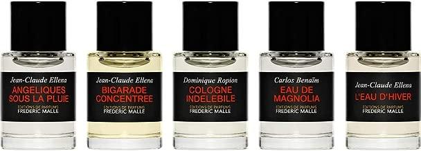 Editions de Parfums Frédéric Malle Les Eaux Collection - Angeliques Sous La Plui, Bigarade Concentrée, Cologne Indelebile, Eau de Magnolia, L'Eau d'Hiver 7ml/ .2 oz each.