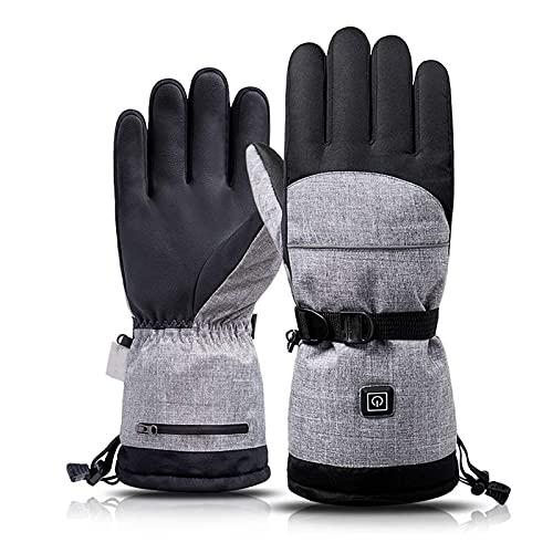 FXBFAG Guantes de esquí Calefacción eléctrica Motos de Nieve Snowboard Guantes de esquí Manoplas de Nieve A Prueba de Viento Impermeable Hombres Mujeres Snowboard Guantes de esquí 26