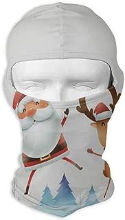 Balaclava Santa Claus Reindeer Snowman Moon Full Face Masks UV Protection Ski Hat Mens Headwear for Hiking