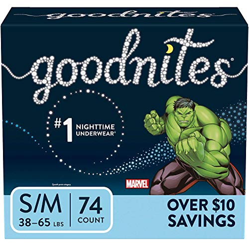 Price comparison product image GoodNites Bedtime Underwear for Boys (S-M (38-65 lb),  74 Ct.)