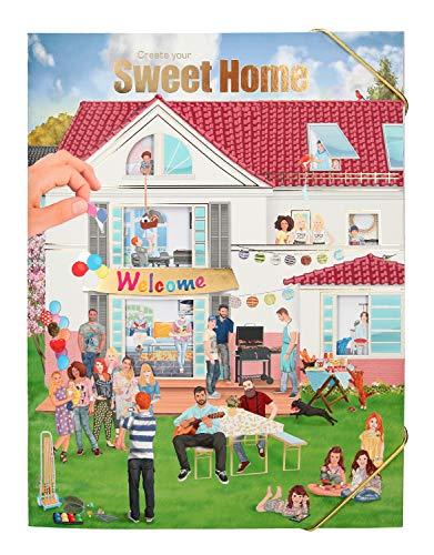 Depesche 10367 - Malbuch mit Stickern Create your Sweet Home