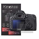 kinokoo Película de Vidrio Templado para Canon EOS 7D Mark II/6D Mark II Crystal Clear Film Protector de Pantalla Canon 7D II 6D II sin Burbujas/antiarañazos (Paquete de 2)