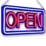 ExH Ouvert Signe, Panneau de Publicité de Signe Ouvert de 50x25cm Led Panneaux Lumineux électroniques Panneau Lumineux étanche pour Les Affichages Daffaires Fenêtre Boutique