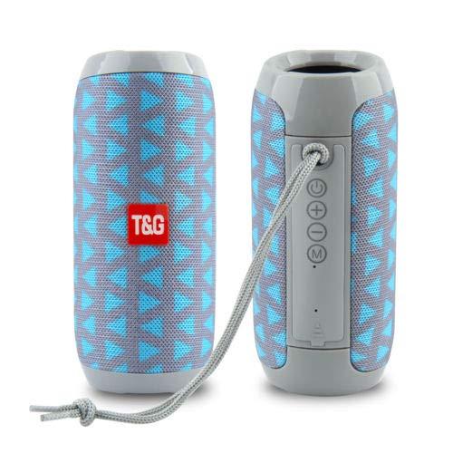 RiderTech 117 Bluetooth Speaker Portable Waterproof Outdoor Wireless Speakers Enhanced Bass, Built in Mic, TF Card, Auto Off, FM Radio for Beach, Shower & Home (Flower Blue)