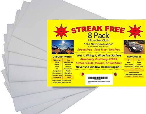 Streak Free Microfiber Cloth'As Seen on TV' | Perfect For Glass, Windows, Cars, Electronics (8)