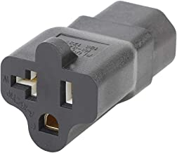 Plugrand (PA-0207) IEC 320 C14 Male to Nema 5-15R/20R Comb AC Power Adapter,C14 15Amp to T Blade 20Amp AC Cable, IEC 3Pole Plug to USA Female Nema 5-15R Power Cable