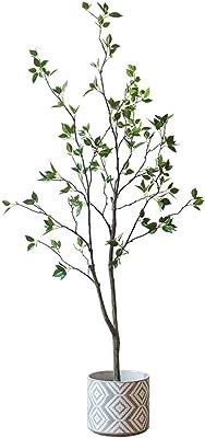 人工観葉植物 シミュレーション椿人工大床盆栽装飾床装飾グリーン植物中国北欧ギフト 大きな人工木 (サイズ : 59 inches)