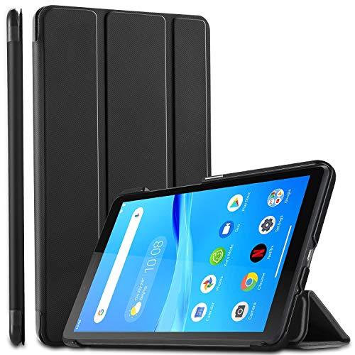 ELTD Hulle fur Lenovo Tab M7Ultra Lightweight Flip mit Stander und Eingebautem Magnet Hochwertiges PU Leder Schutzhulle fur Lenovo Tab M7 2019 7 Zoll Tablet Schwarz