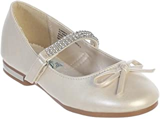 3f776dd584f iGirldress Girls Flats Rhinestones Strap Mary Jane Dress Shoes Size 9-5  Youth