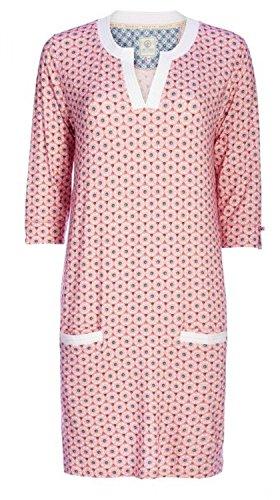 PiP Studio Damen Deir Nachtkleid Nachthemd 3/4 Arm Longsleeve Ornament All - Over Druck, Grösse:S - 36;Farbe:rosa