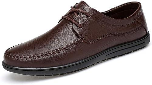 chaussures House Hommes Lacet-Up Lacet-Up Décontracté Chaussures en Cuir d'affaires Oxford Chaussures  meilleure qualité