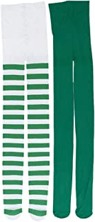 VALICLUD, VALICLUD 6 Piezas St. Día de Patricks Traje de Niña Medias de Fiesta Irlandesa Vestido de Niña Suministros de Utilería para Fotos Verde