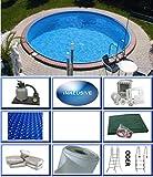 Summer Fun Stahlwandbecken Set Java Exklusiv rund ø 2,00m x 1,20m Folie 0,6mm All Inklusive Set Pool Rundpool / 200 x 120 cm Stahlwandpool