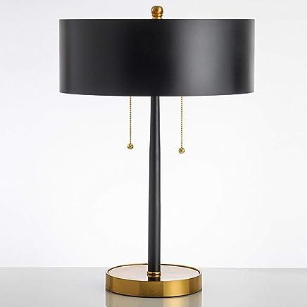 Post-modern Black Minimalist Table Lamp, Bedroom Bedside Model Room Decoration Table Lamp, Guest Room Office Metal Table Lamp Home Decoration