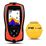 Lucky Portable Wireless Fish Finder with Attracting Fish Lamp for Shore Anglers High