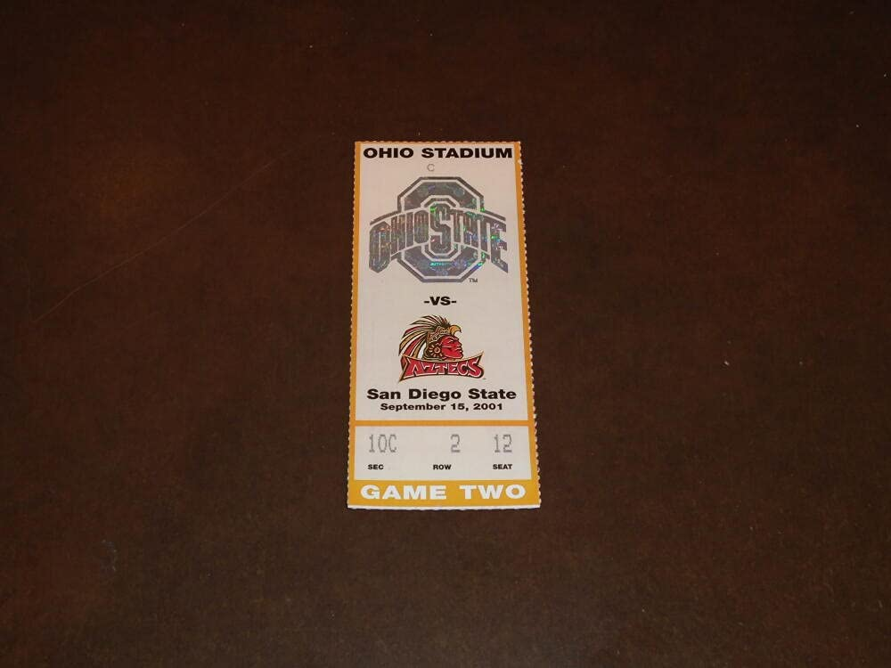 2001 SAN DIEGO STATE AT 25% OFF TICKET OHIO NEW before selling ☆ STUB FOOTBALL