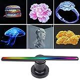 V BESTLIFE 3D Holograma Proyector de Funcion WiFi Proyector Publicitario con 384 Pcs LED, Alta resolución de 768 * 768,Diámetro de 17 Pulgadas,176 ° Visión Grande, Tarjeta SD de 8GB.(EU.Plug)