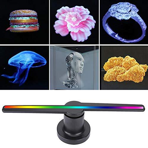 VBESTLIFE 3D Hologramm Projektor, WiFi LED HD tragbarer Hologramm Spieler 3D holographischer Dispaly Fan, Hologramm Projektor Beratung Displayer mit 16GB Speicherkarte MP4 / AVI / RMVB / MKV / GIF