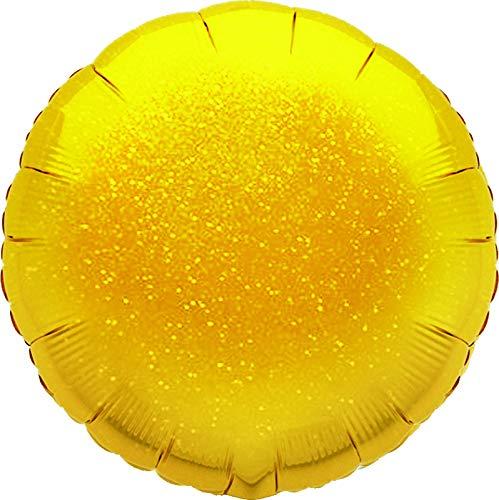 Suki Gifts S9601598 Helium Ballon gonflable holographique Doré