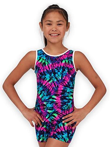Leap Gear Gymnastik Biketard/Unitard 3 | Kinder X-Small Lila Tie-Dye