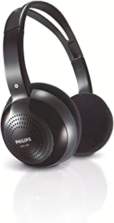Philips SHC1300 - Auriculares de diadema cerrados inalámbricos, negro