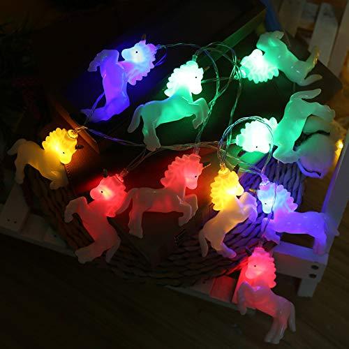 ZUEN Seil Licht Batterie LED Pferdelichterkette IP44 Wasserdicht Geeignet für Urlaub Party Hausgarten Schlafzimmer Outdoor Wanddekoration,B,1.5m