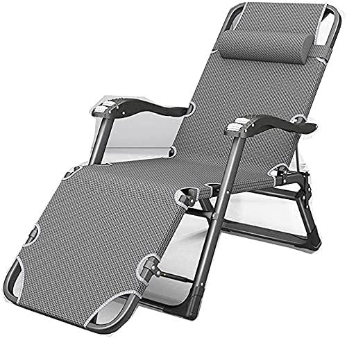 LPIJN Silla Relajante Cama Individual Plegable sillón de jardín de Gravedad Cero Oficina -1 (Color: 1)