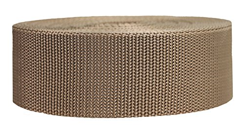 Strapworks Heavyweight Polypropylene Webbing - Heavy Duty Poly Strapping for Outdoor DIY Gear Repair, 2 Inch x 10 Yards - Tan