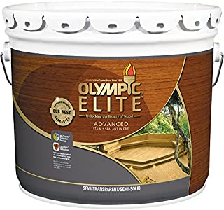 Olympic Stain 410040, Brown Base, 3 gal OS Elite Ext ALK 550VOC Brown 80204 B300