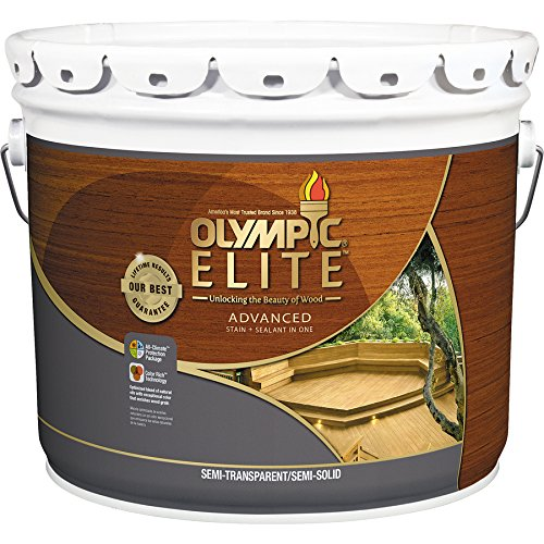 small Olympic Stain 411044 Brown Base 3 Gallon OS Elite EAL K550VOC Tan BS80200 B300