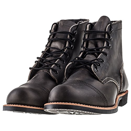 Red Wing Heritage Men's Iron Ranger Work Boot, Charcoal Rough and Tough, 7 D US
