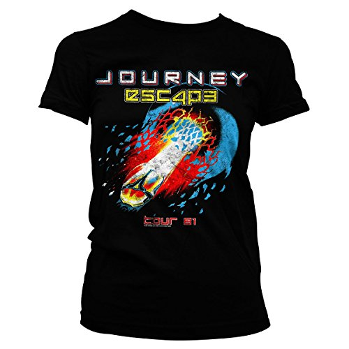 Journey Oficialmente Licenciado Escape Tour -81 Mujer Camiseta