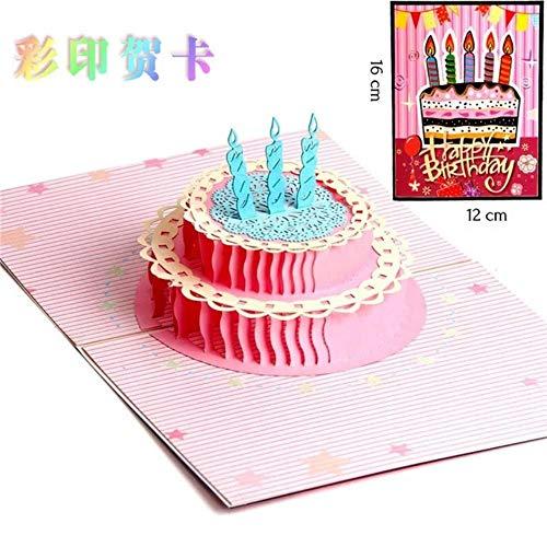 YAOJII 3D Pop Up verjaardagskaart Creatieve handgemaakte cadeaubon