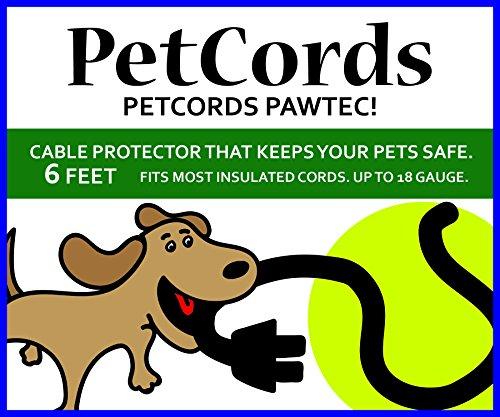 PetCords Protector de cordón para perros y gatos, protege a tus mascotas de masticar a través de cables aislados, sin perfume, sin olor (mini cables de 6 pies, transparente (1,8 metros))