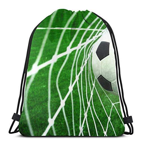 LREFON Gimnasio Bolsas con cordón Mochila Balón de fútbol Golpea Mochila Bolsa para almacenamiento deportivo Organizador de zapatos Ahorro de compras Niños