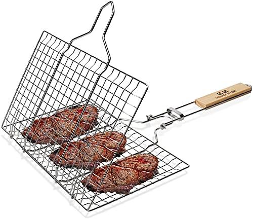 Parrilla Barbacoa pequeña Mini portatil de Camping para Carbon y leña Cocina Profesional de Rejilla Carne y Pescado