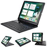 LENRICH iPad pro 12.9 case with keyboard 2017 2015,360...