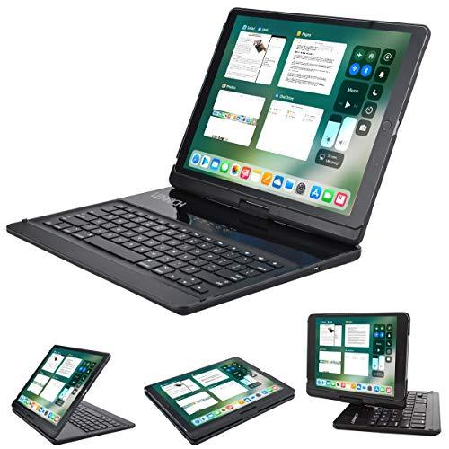 Lenrich iPad Pro 12.9 キーボードケース 360度回転可能 iPad Proケース ワイヤレスBluetoothキーボードスタンド付き iPad Pro 12.9インチカバー ブラック LBK224