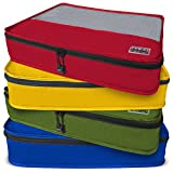 Dot&Dot Large Packing Cubes for Travel - 4 Piece Assorted Pro Luggage Accessories Organizers