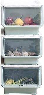 Caisses De Rangement 3 Boîte de rangement ouverte sur le côté Jouet ouvert sur le côté Panier de rangement en plastique Ti...
