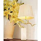 RJW Nuovo Stile Cinese di Rame Uccello Basamento del Ramo di Un Albero Naturale Marmo Club Reception Room Master Desk Lamp 41 * 80cm Riscaldamento