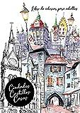 Ciudades casas castillos libro de colorear para adultos: Ciudades para colorear adultos libro | Libros para colorear para adultos | Casas de libros para colorear | 72 P