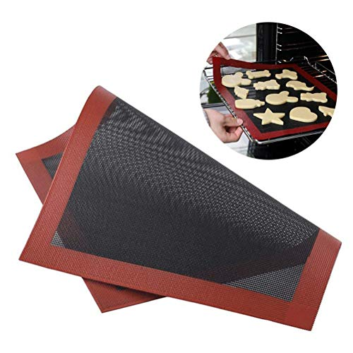 petit un compact Tapis de cuisson en silicone antidérapant micro perforé Hanwuo Micro-ondes à pizza Macaron