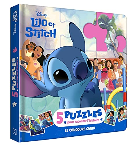 LILO ET STITCH - Mon Petit Livre Puzzle - 5 puzzles 9 pièces