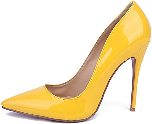 MagicXle zapatos de tacón Alto para mujer zapatos de Piel de Oveja Solos en Punta zapatos de Trabajo Profesionales de tacón Delgado y Poco Profundos