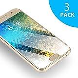 Verre Trempé Samsung Galaxy A3 2017 SUERW [3-Pack] Vitre Film Protection d'écran Pour Samsung Galaxy A3 2017 (0.33mm, 9H Dureté, Ultra HD)