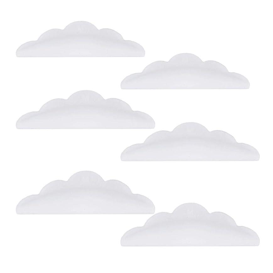 適切なギャロップ窓を洗うLurrose 24本のシリコーンまつげパーマカーラーシールドパッド化粧道具(ホワイト)