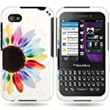 CoverON Slim Hard Case for BlackBerry Q5 with Cover Removal Tool - (Sunflower)